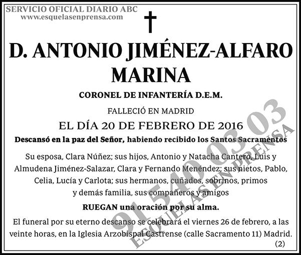 Antonio Jiménez-Alfaro Marina